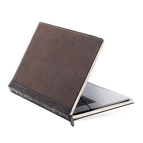 Twelve South BookBook V2 for 16' MacBook | Vintage full-grain leather book case/sleeve with interior pocket