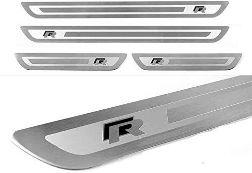 4Pcs Edelstahl Karosseriebeschläge Einstiegsleiste für Golf 6 7 GTI R-Line Jetta Polo Tiguan Trim Scuff Pedal Cover Schutz Zierzubehör Threshold Fittings