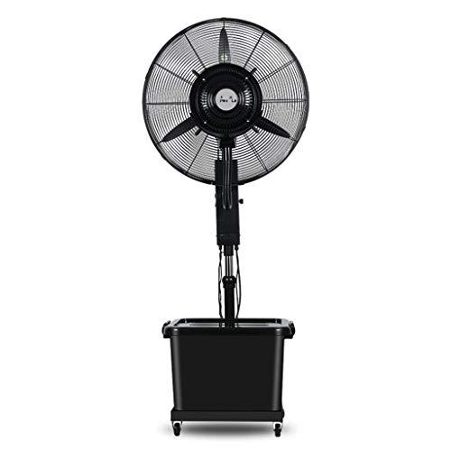 ventilador de atomización Industrial enfriamiento por pulverización Negro humidificador de fábrica Comercial al Aire Libre, 40m2, 260W, Ajuste de 3 velocidades