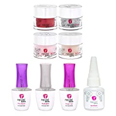 REVOLUTIONARY MANICURE: Revel Nail Dip powders are quick to apply, odor free, and come in a variety of colors and finishes. Because they are non-toxic, they leave the nail bed healthy and undamaged. Most women get three, four, or even five weeks of w...