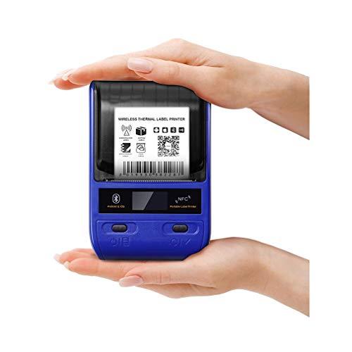 Impresora De Etiquetas, Portátil Fabricante De Etiquetas Térmicas Bluetooth Con Batería Recargable, Aplicación Para El Etiquetado, Por Cable, Menor, Código De Barras Y Más, Por Android Y Ios Sistema