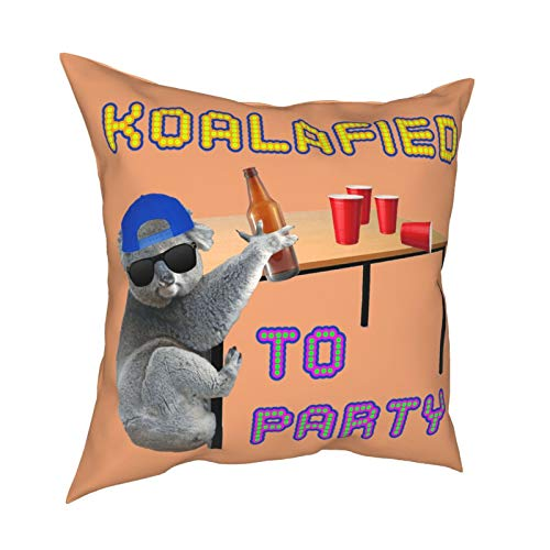 Houtiff Koalafied to Party Racerback Tank Top Pillow Case Fashion Square Pillowcase Decor Throw Pillow Cover 18 X 18 Inch 45 X 45 cm
