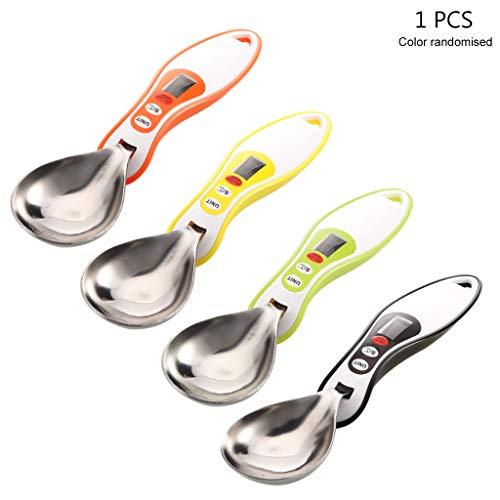FXCO Küchenwaage, LCD, digital, Messlöffel, Küchenwaage, Löffel, Waage, für Salz, Kaffee, Tee, Puder, Volumen, Lebensmittel, Küche