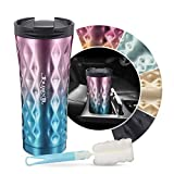 JOYXEON Travel Mug Coffee Cup,17.6oz- Stainless Steel 304 Thermo Cup Vacuum Insulated Cup