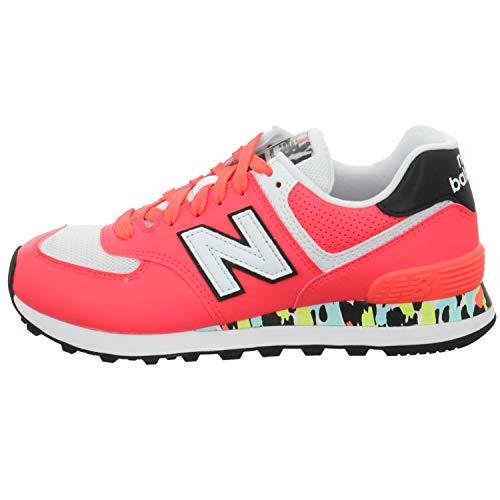 New Balance 574 Cu2 Sneaker Donna Corallo, 37.5, Rojo