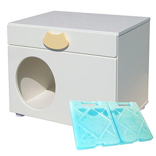 ペットハウス「オアシス 横置き型」 犬,猫,ペットの暑さ対策、熱中症予防に室内用ひんやりハウス (キャット)