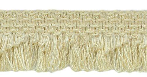 DecoPro décoratifs Ivoire (Écru) festonné Boucle Frange/Tresse, 4 cm, Style # 9115 Couleur : A2 (B01) (Vendu par la Cour (0,9 m = 91 cm/0,9 m/91,4 cm)