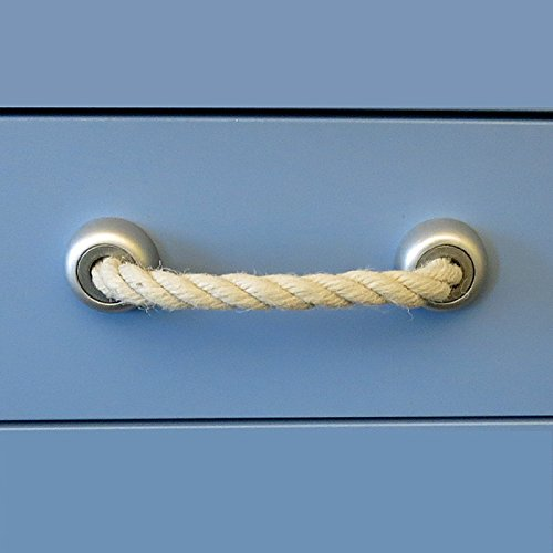 Schwinn Möbelgriff Kordel 35-6898 Silber lackiert/Lochabstände 64 bis 128 mm