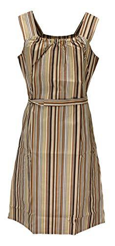 Sommerkleid Kleid Hauskleid Gartenkleid Strandkleid Baumwolle, Größe:38, Design:Design 1