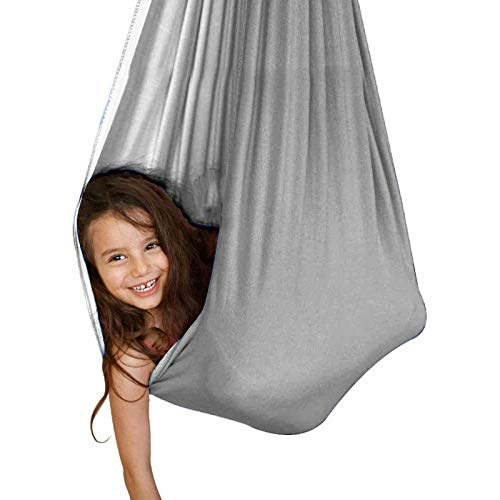 LHHL Children's Indoor Treatment Swing Hammock Suitable for Children with Special Needs Indoor Treatment Swing Autistic ADHD Asperger (Color : Gray, Size : 100280CM)