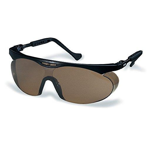 Uvex Arbeitsschutzbrille / Bügelbrille 9195 skyper, schwarz, Scheibenfarbe: braun, Schutz: 5-2,5