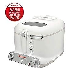 Frytkownica Moulinex AM3021 Super Uno / 1800 watów / timer / izolowana termicznie / 1,5 kg pojemność / biały /jasnoszary