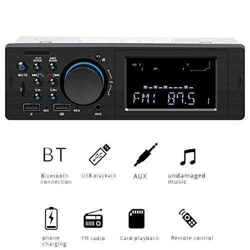 QinLL Auto Radio Autoradio Cassette Speler Bluetooth Auto Audio Mp3 Speler Telefoon Opladen Usb Auto Radio Stereo Afstandsbediening, bb