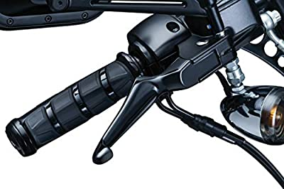 Kuryakyn 1847 Motorcycle Handlebar Accessory: Boss Blades Clutch and Brake Trigger Levers for 1996-2017 Harley-Davidson Motorcycles with Cable Clutch, Gloss Black, 1 Pair from Kuryakyn