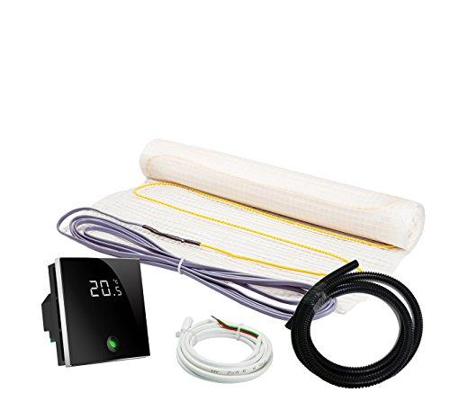 Elektrische Fußbodenheizung Komplett-Set NZ-160 Premium - (2.5 m² - 0.5 m x 5 m, Thermostat MCS 400 WLAN)