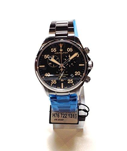 HAMILTON Khaki Aviation Chrono Man Watch in Steel H76722131