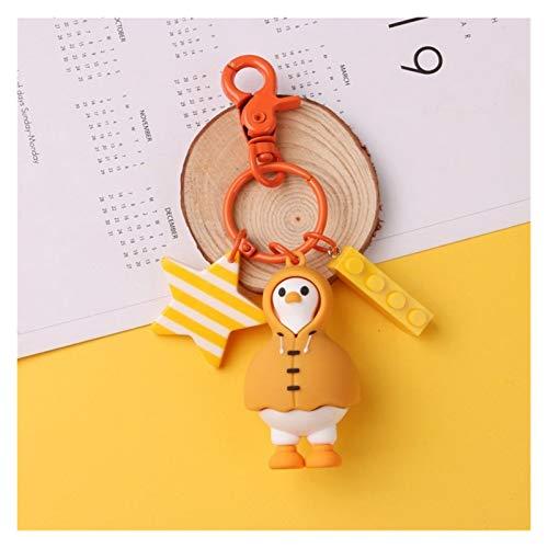 jsobh Colgante Llavero Pato Lindo Llavero de Dibujos Animados de Moda de Corea del Pato Llavero nbsp; Colgante del Bolso Creativo práctico Pequeño Regalo de los niños Llavero Regalo (Color : 1pc-A)