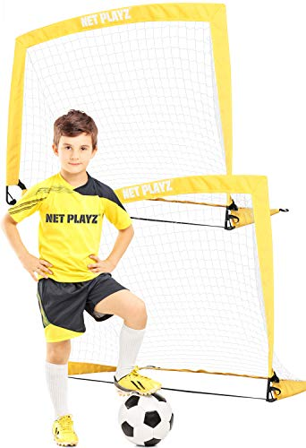 Details about  /Limerlo Portable Soccer Goals for Backyard,Pop Up Football nets for Kids with