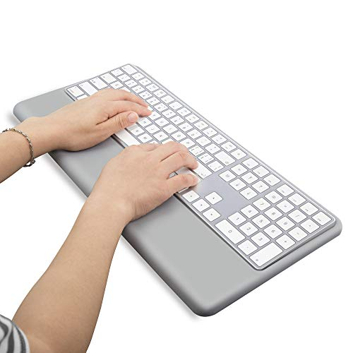 Wrist Rest Ergonomic Keyboard Stand Compatible with Wireless Magic Keyboard 2 with Numeric Keypad (Gray Silicone)