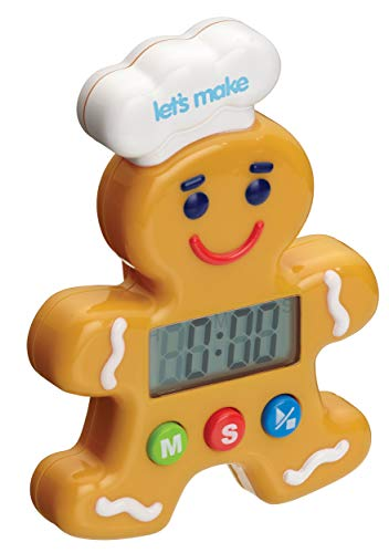 Kitchen Craft Let\'s Make Digitaler Küchentimer Lebkuchenmann, 100 Minuten