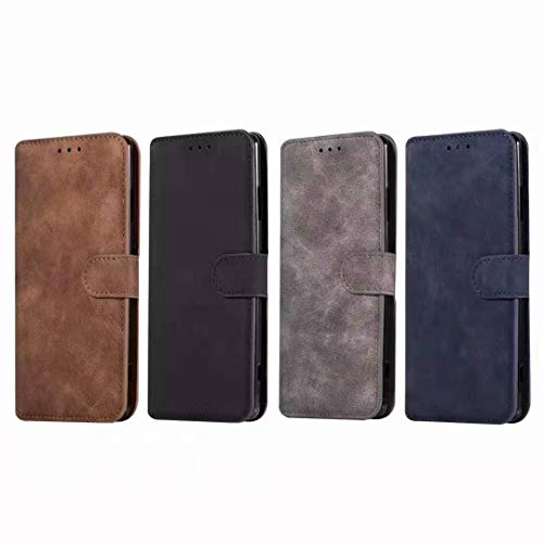 Sunrive Hülle Für Honor 4C/Huawei G Play Mini, Magnetisch Schaltfläche Ledertasche Schutzhülle Etui Leder Case Cover Handyhülle Tasche Schalen Lederhülle MEHRWEG(W8 Grau) - 4