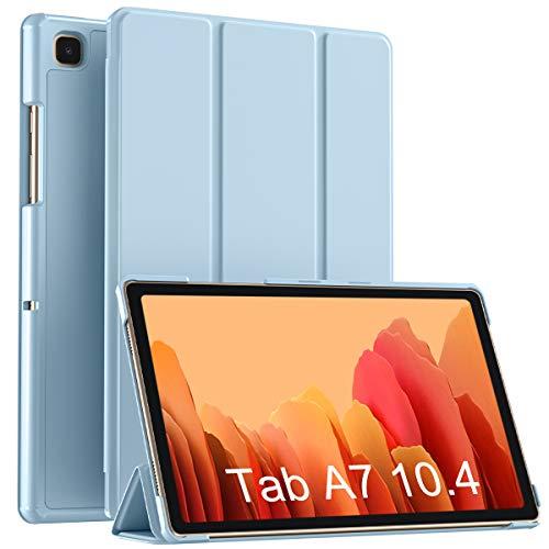 Vobafe Funda Compatible con Samsung Galaxy Tab A7 10.4 2020, Plegable Soporte Protectora PC Funda Slim para Galaxy Tab A7 10.4 SM-T500/T505/T507, Auto-Sueño/Estela, Azul Claro
