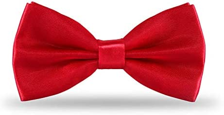 Pylrus Men s Pre Tied Bow Ties Clip On Formal Tuxedo Adjustable Length Satin Classic Bowtie product image