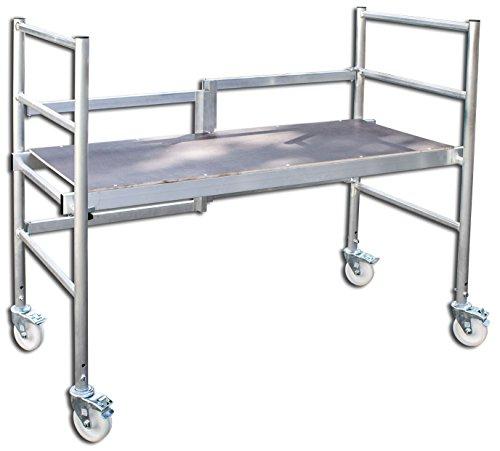 ALTEC Rollfix 300 mit Falteinheit, Arbeitshöhe 3 m, faltbar/klappbar, neu, inkl. Rollen,