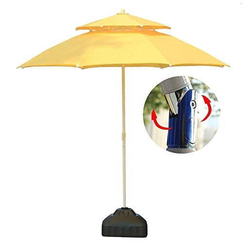 GBTB Sombrillas Sombrilla de jardín de 7.5 '/ 230cm con inclinación de botón, Patio al Aire Libre, Mercado de Eventos comerciales en la Playa, Camping, Junto a la Piscina (Color: Am