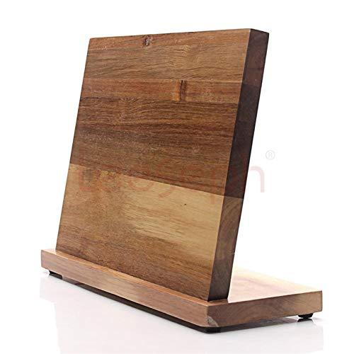 Bloque de cuchillos magnéticos (madera natural), bloque de organizador de cuchillos, base de cuchillas, soporte de tijera de cocina, fuertemente magnético Soportes cuchillos cocina