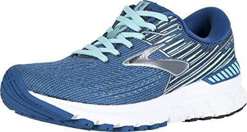 Brooks Women's Adrenaline Gts 19 Running Shoes, (Blue/Aqua/Ebony 417), 4 UK