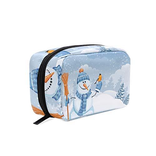 LUPINZ Snow Man avec pochette de maquillage Yellowbird pour femme et fille
