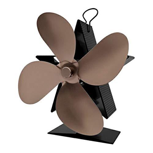 Nihlsen Chimenea de energía térmica de cinco puntas calentador de aire estrella de bajo ruido eficiente disipación de calor ventilador térmico de cuatro cuchillas