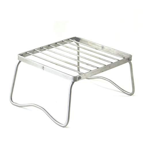 Yissone Mini-Grill Grillgestell Kompakt im Freien Grillen Drahtgeflecht Feuerstelle Edelstahl Grillwerkzeug für Picknicks Camping Tragbares Wandern 17X15. 5Cm