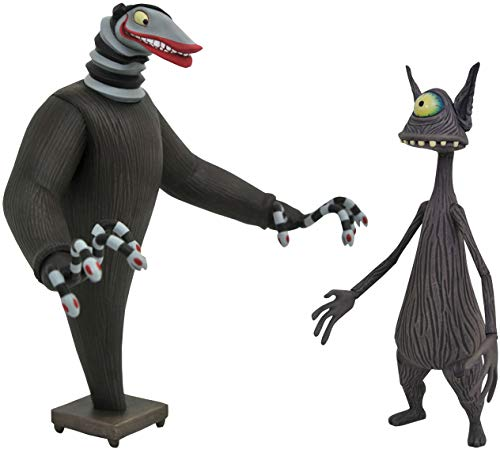 DIAMOND SELECT TOYS The Nightmare Before Christmas: The Creature Under The Stairs & Cyclops Select Action Figure, Multicolor