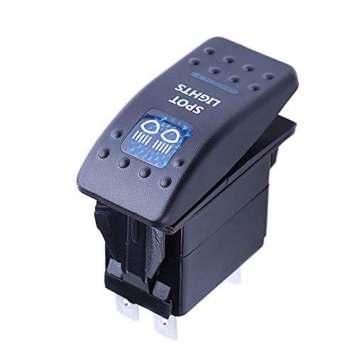 Mintice vehículo de 12V 20A LED azul interruptor de palanca basculante luz 5 Pines Spot Light