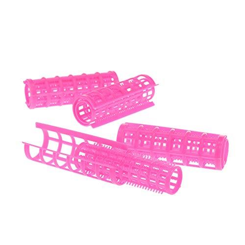 Rouleaux de cheveux en plastique/bigoudis, DIY en plastique rouleau de cheveux Pro Salon Coiffure Bigoudis Clips Compatible avec les femmes filles 24pcs