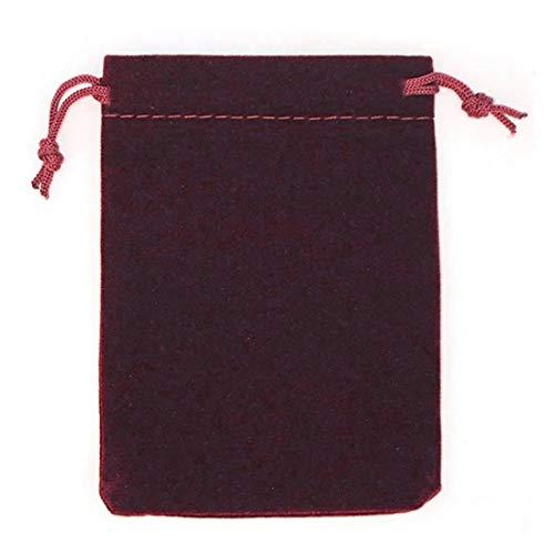 (I) 5cm x 7cm アクセサリーギフト用巾着 (サイズ)04.ワインレッド 巾着袋 ラッピング用品 収納 小袋 ジュエリーポーチ 携帯用 シンプル プレゼント バック カバン 小さい 小さめ コンパクト 人気