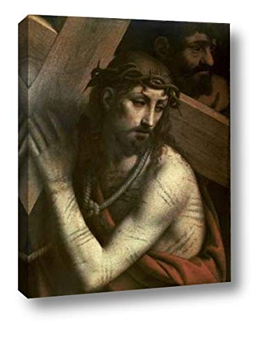 "Museumist Bearing His Cross by Bernardino Luini - 29"" x 38"" Canvas Art Print Gallery Wrapped - Ready to Hang"