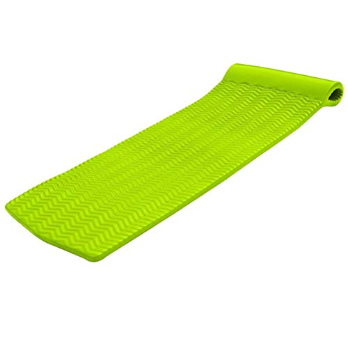 Texas Recreation Serenity 1.5' Thick Swimming Pool Foam Pool Floating Mattress, Lime