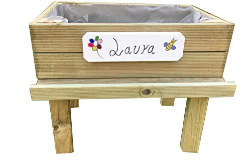 Mesa de cultivo para huerto urbano- Kit infantil 60 x 40 x 55 cm