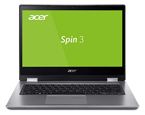 Acer Spin 3 (SP314-53GN-71LX) Laptop (14 Zoll Multi-Touch FHD mit IPS, Intel Core i7-8565U, 16 GB DDR4 RAM, 512 GB PCIe SSD, Nvidia GeForce MX230, Win 10 Home) Silber