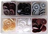 Easycargo Surtido de 120 tapas de rosca de colores, impermeables, de plástico, autoperforantes, para tornillos de cabeza en cruz, armarios, decoración de roscas