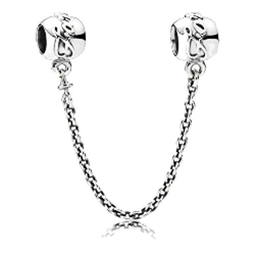 791788–08Pandora Bead cadena de seguridad mujer plata lazos familiares