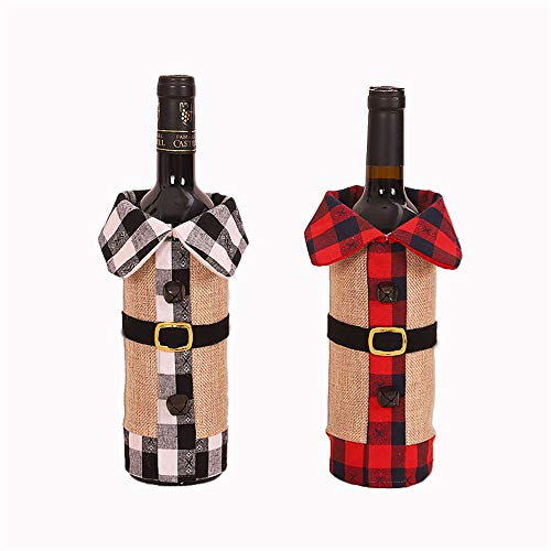 QLKJ 2 Adornos NavideñOs Ropa De CelosíA Campana Botella De Vino Bolsa Decorativa
