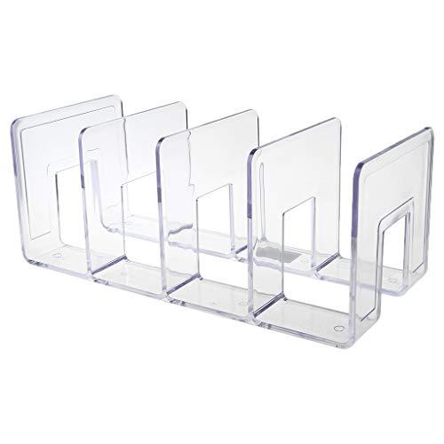 Angelliu - Prensatelas de Libros acrílico Transparente Multicapa para Escritorio, Documentos, Biblioteca, papelería, Suministros de Regalo
