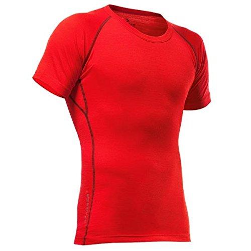 Pfanner Kurzarm Funktionsshirt aus Merinowolle, Größe:L, Farbe:rot
