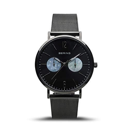 BERING Damen Analog Quarz Uhr mit Edelstahl Armband 14236-123