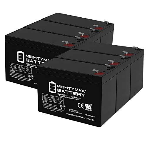12V 7AH Replaces hr9-12 gp1270 sla1075 gp1270f2 wp7-12 bp8-1 Mighty Max 4 Pack