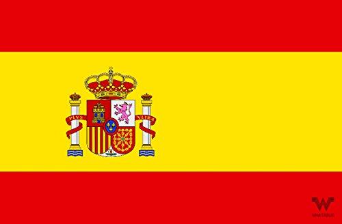 WHATABUS Spanien Aufkleber Flagge - Länderflagge als Sticker 8,5 x 5,5 cm